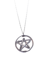 Snake Rib And Twig. Lily Dale Pentacle Necklace