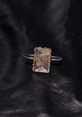 GOLDEN HAIR QUARTZ TWO FINGER RING